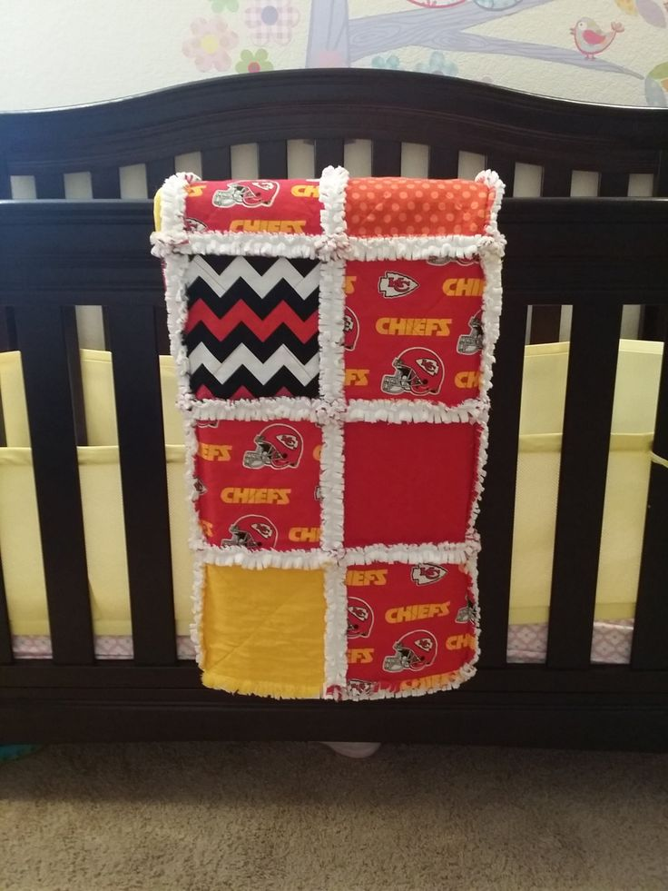 Kansas Chiefs Rag Quilt-Size 42x42-Patch-Blanket-Luxury-Baby-Crib-Toddler-Kids-Chevron-Dots-Red-Yellow-Black-Fabric-Custom-Minky-NFL-Sports. by SniffandMeowBoutique on Etsy https://www.etsy.com/listing/227161526/kansas-chiefs-rag-quilt-size-42x42-patch