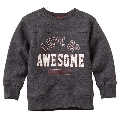 Jumping Beans Sport Chest-Seam Fleece Sweatshirt - Toddler $7.99 on sale