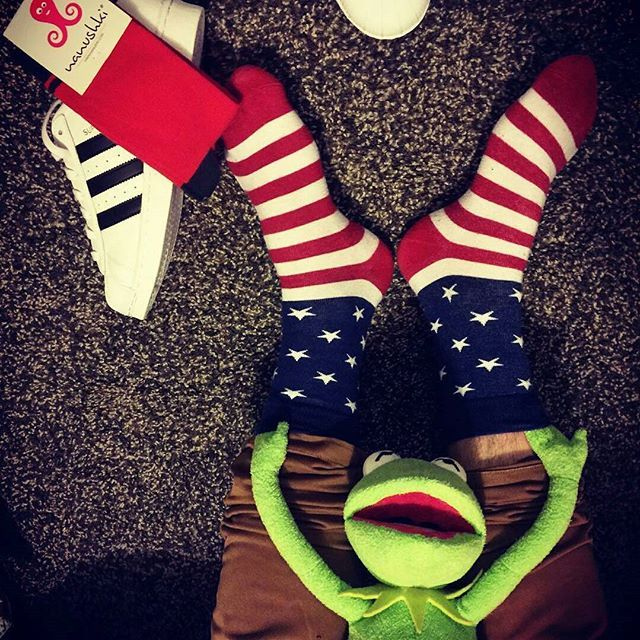 Nanushki socks men socks muppet show  US flag Kermit adidas originals