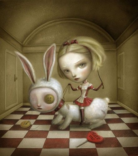 I love Nicoletta Ceccoli's Alice in Wonderland-esque pieces.