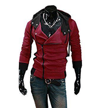 Cartiar Fleece Slanted Zip Outfit Assassins Creed Sweatshirt Hoody Jacket (Royalblue) US L(Tag 2XL)