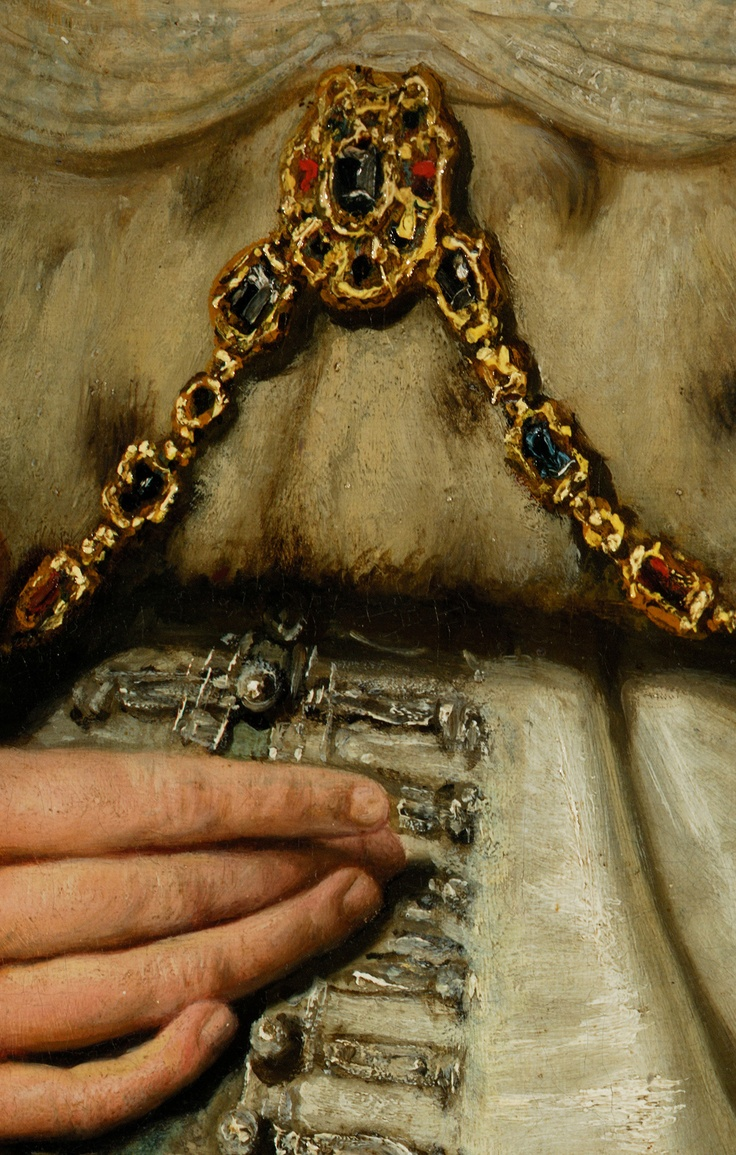 "detail from ""Artemisia"" by Rembrandt @ Museo del Prado, Madrid"