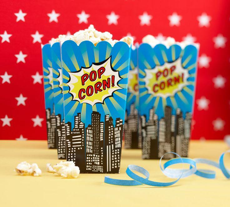 : POP CORN BOXES   POP ART PARTY #hatchandblossom