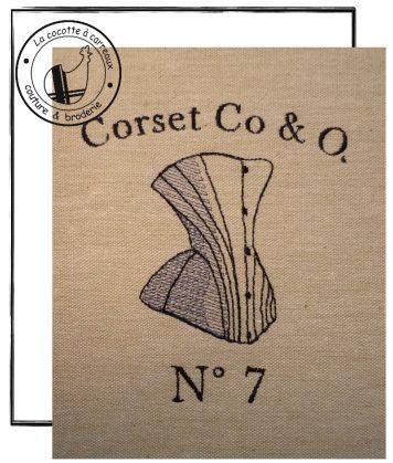 Broderie machine à télécharger - corset