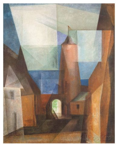 Gruetzturm in Treptow Posters by Lyonel Feininger at AllPosters.com