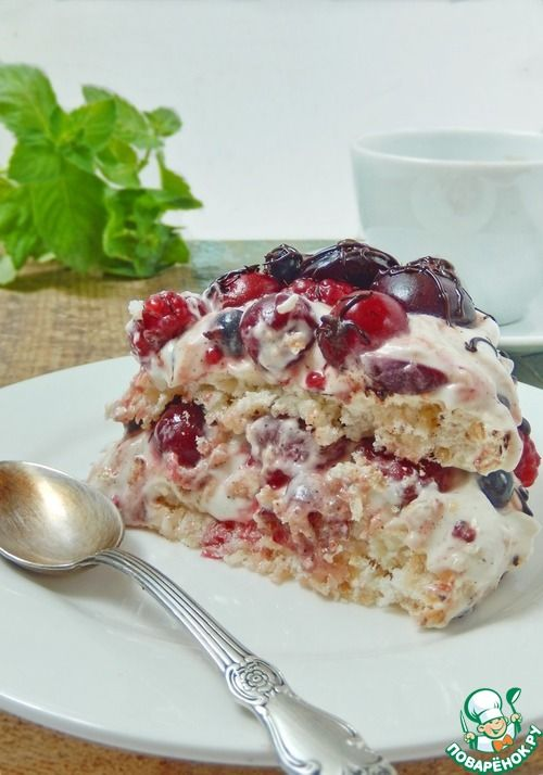 """Торт """"Итон-ягодный беспорядок"""" - кулинарный рецепт"""