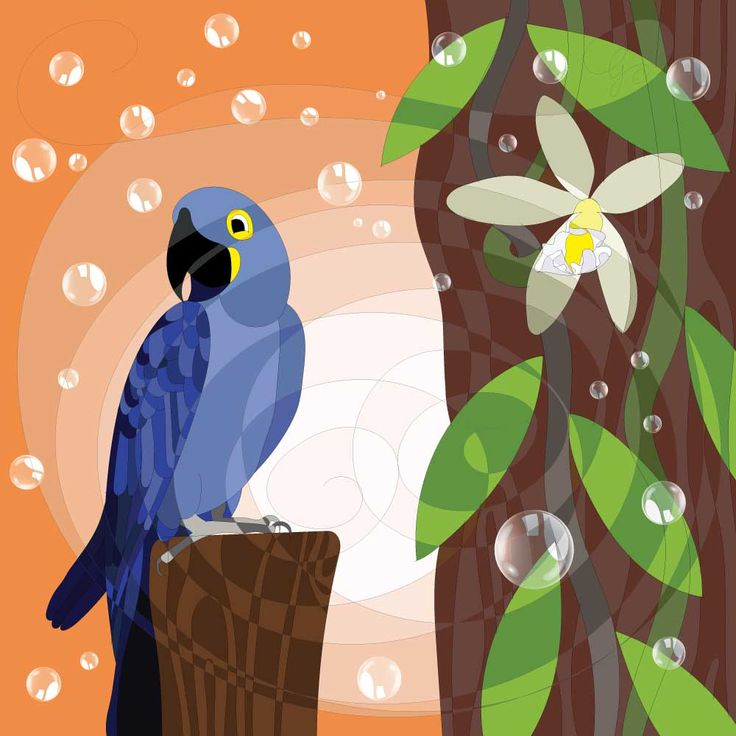 Our next picture is this cute Hyacinth macaw! :-) #HAPIdesign #macaw #birds #exotic #cute #smile #instalike #instagood #follow #drawing #digital #wacom #tablet