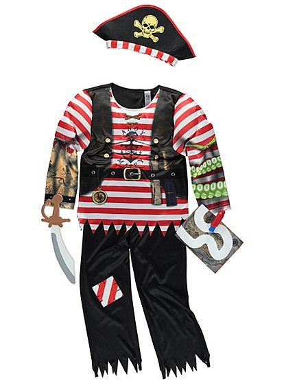 Pirate Fancy Dress Costume , read reviews and buy online at George at ASDA. Shop from our latest range in Kids. No pirate is ready to sail The Seven Seas wit...