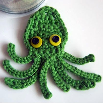 Grátis Crochet Pattern: Kraken Octopus Squid Applique