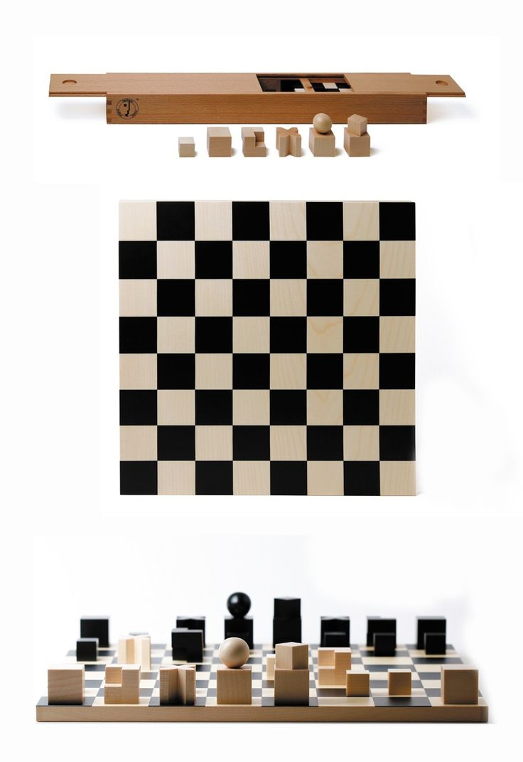 bauhaus design chess set naef