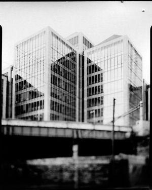Luke Street, Dublin  Sinar F2 Schneider-Kreuznach Symmar-S 150mm 5.6 Ilford/Harman Direct Positive Paper FB 4x5 ISO 3  Photographer: Artur Sikora