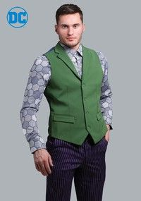 THE JOKER Suit Vest (Authentic) <b>Vest</b> <ul> <li>100% polyester.</li> <li>Adjustable back