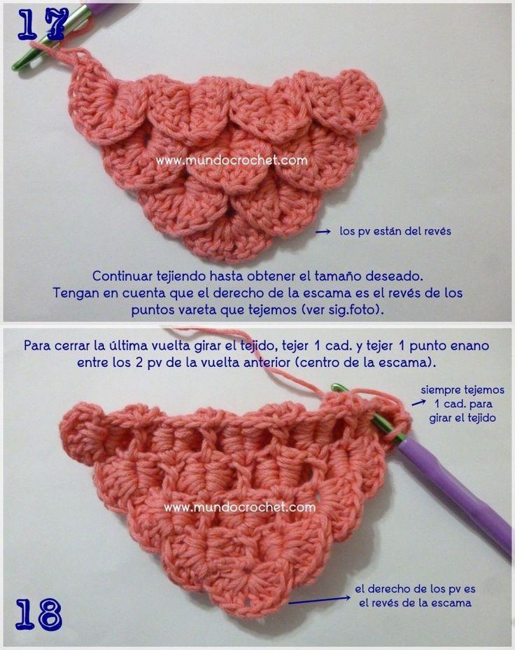 Como fazer crochê de crochê ou crochê ou ponto de crochê passo a passo