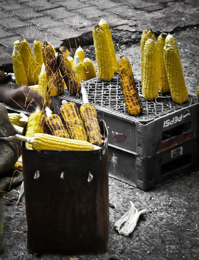 Grilled corn - Street Food in India   - Explore the World with Travel Nerd Nici, one Country at a Time. http://TravelNerdNici.com