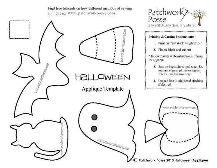 free Halloween Applique Designs | Craftsy