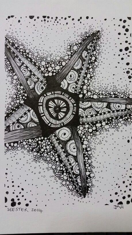 Zentangled sea star
