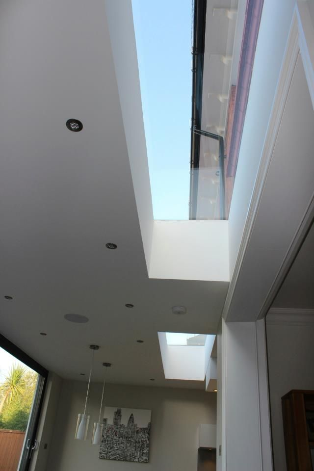Rooflight Flush with the wall to get maximum light into the existing space - from one of our Surbiton Jobs