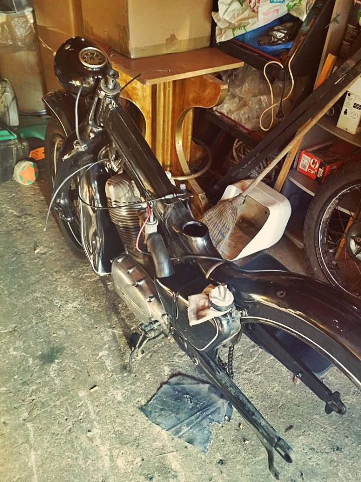 Getting Naked   #NSU #motorcycle #Restoration