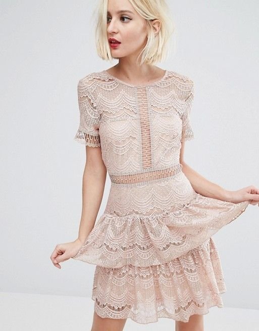 River Island | River Island Lace Tiered Dress
