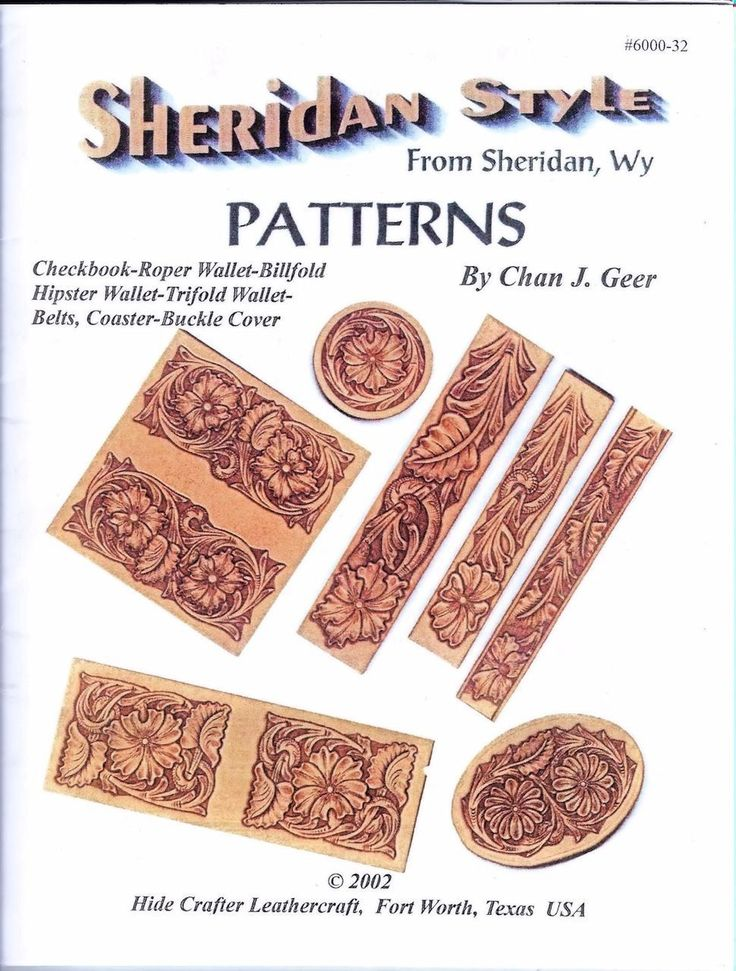 Stecksstore - Sheridan Style Leather Patterns 11 pages , $12.49 (https://www.stecksstore.com/sheridan-style-leather-patterns-11-pages/)