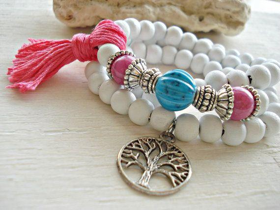 Yoga Bracelet  Yoga Jewellery  Boho Jewellery  by HandcraftedYoga, $28.00