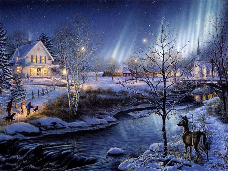 Движущиеся картинки про зиму
