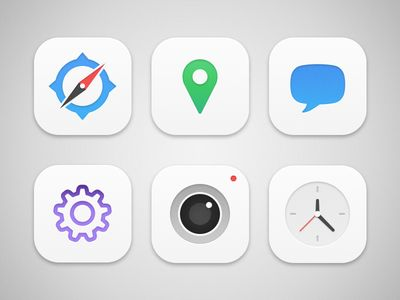 iOS Icons #ios7 #iphone #interface