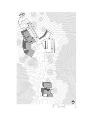 plan de masse - Oak Pass Main House par Walker Workshop - Los Angeles, Usa