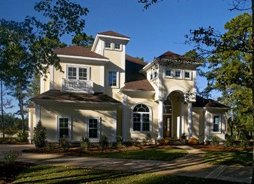Interesting Stucco House With Houzz House Exteriors