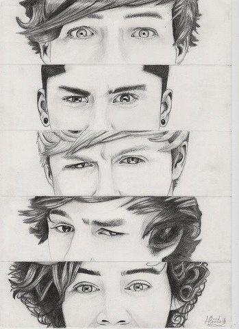 pencil drawing - one-direction Fan Art. So good!! I wish I could draw like that... :/ @Kaitlyn McNeely  :)