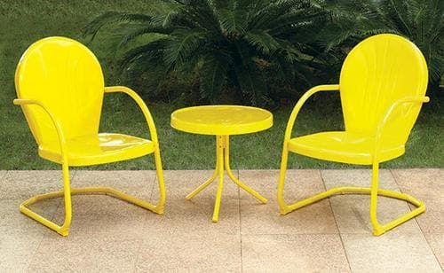 Backyard Creations® Woodstock 3-Piece Yellow Bistro Patio Set