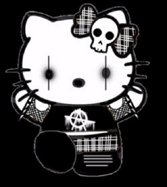 Gothic Hello Kitty Coloring Pages