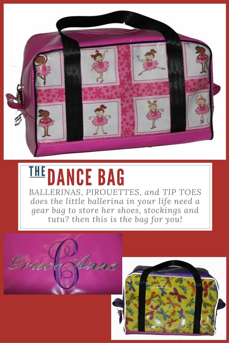 Ballerina Dance Bag girls gift idea for the little lady in your life! Pink Dancing Girls print shown here on our Dance Bag - $90 - 35cmL x 22cmW x 25cmH Built to last using quality PVC, and seatbelt straps sewn into the base of the bag for the straps. Great Ballet   Jazz   Dance Club gift idea. 70+ fabrics to choose from and embroidery available for a more personalised gift!