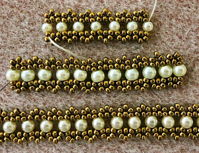 Linda's Crafty Inspirations: Bracelet of the Day: Crystal Chain with Pearls