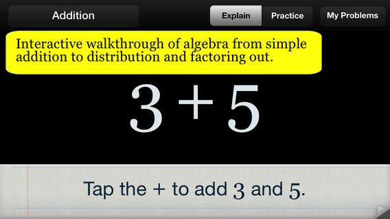 Great for intro algebra classes