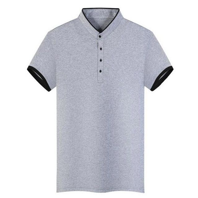 HEE GRAND Polo Shirt For Men 2017 New Arrival Stand Collar 100% Cotton Material Slim Fitted Solid Color Male Polo Shirts MTP426