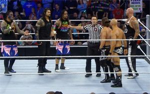 Roman & The Usos vs. AJ, Gallows & Anderson – Six-Man Tag Team Match