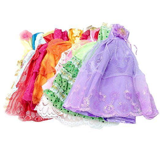 5 pz Set Girl bambole giocattoli abiti abiti bambola accessori Playsets per bambini ragazze compleanno regalo stile casuale