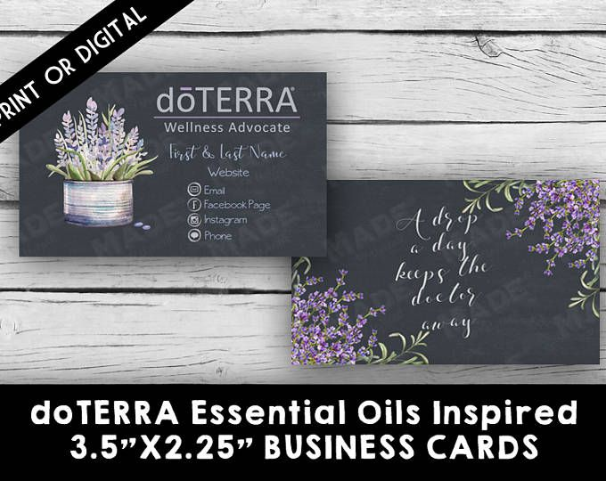 The Best Doterra Business Cards Ideas On Pinterest Young - Doterra business card template
