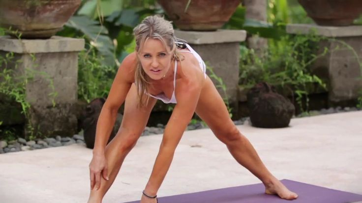 Yoga Demo for Yoga Bali DVD, filmed in Bali Ubud rainforest.