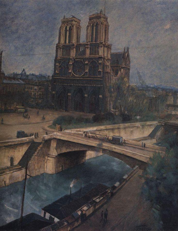 Kuzma Petrov-Vodkin - Paris.Notre-Dame, 1924