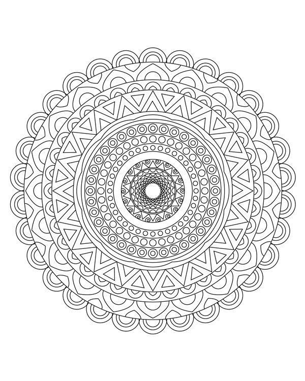 Mandala coloring pages Mandala coloring book Adult от hedehede