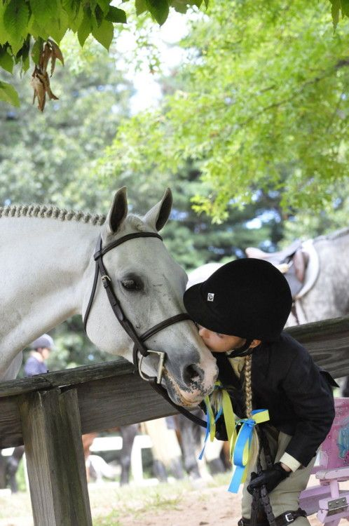 always remember to give your horse a kiss hello, thank you, good bye and when ever else he your you need or want it!