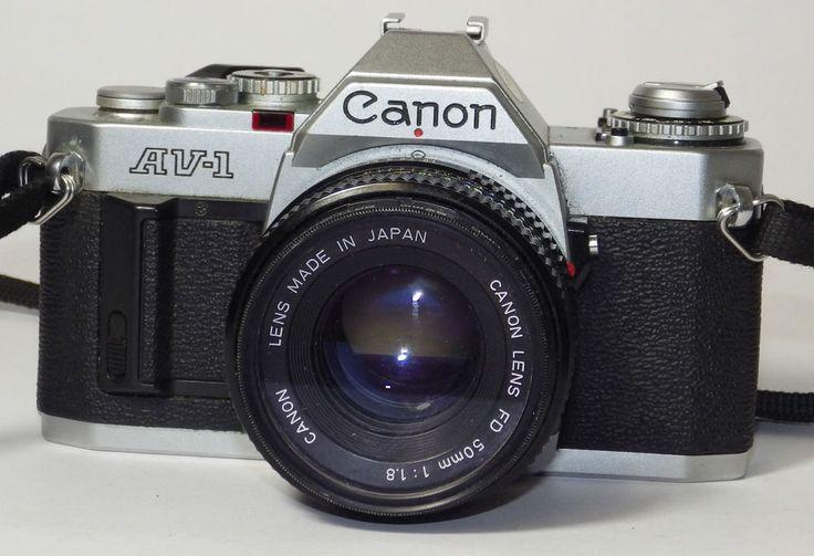 Canon AV-1, 35mm Film Camera w Canon FD 50mm Lens