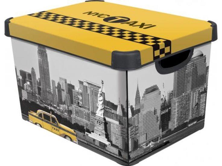 Pudełko duże z pokrywą Taxi New York 29,5 x 39,5 x 25 cm CURVER http://sklep.dajar.pl/pudelko-duze-z-pokrywa-taxi-new-york-29-5-x-39-5-x-25-cm-curver