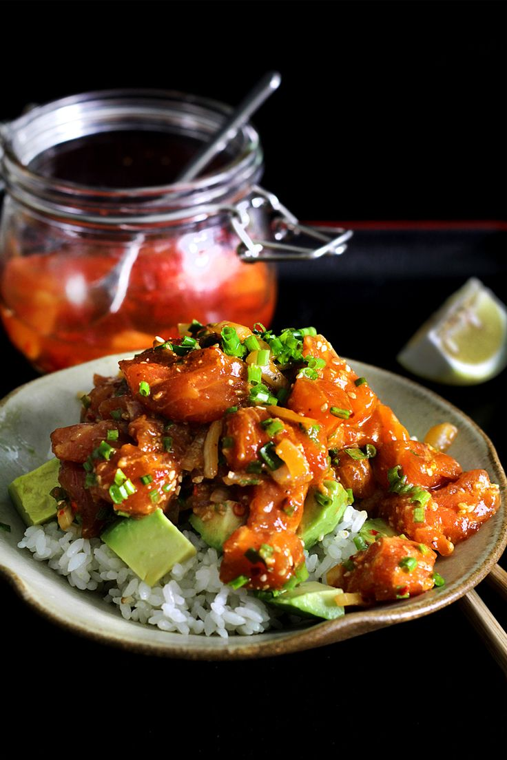 Salmon poke d you you should poke back sushi rice and for Aloha asian cuisine sushi