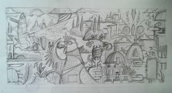 Illustration- Zizzi Spring Menu by Charlie Davis, via Behance