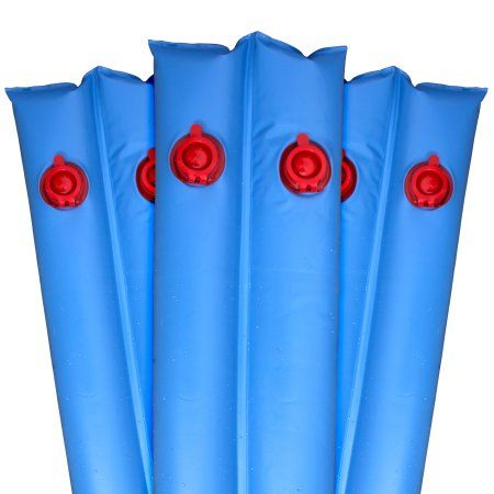 Premium 20g. Double-Chamber 10' Blue Winter Water Tube For Swimming Pool Covers, 12 Pack