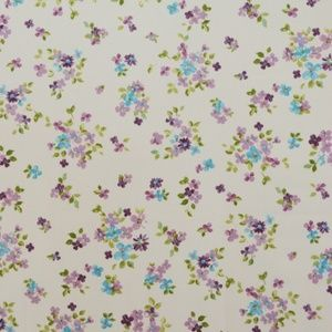 Posie Lavender 100% cotton 137cm 63.7cm Curtaining