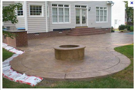 Stamped Concrete Patio w/ outdoor kitchen